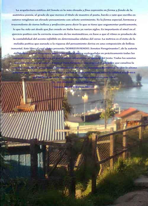 """A manera de prólogo del libro """"Sobreviviendo. Sonetos peregrinantes"""" de Lionel Henríquez"""